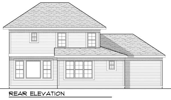 Farmhouse Traditional House Plan 72906 Rear Elevation