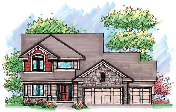 Country , Craftsman , Farmhouse , Traditional House Plan 72907 with 3 Beds, 3 Baths, 3 Car Garage Elevation