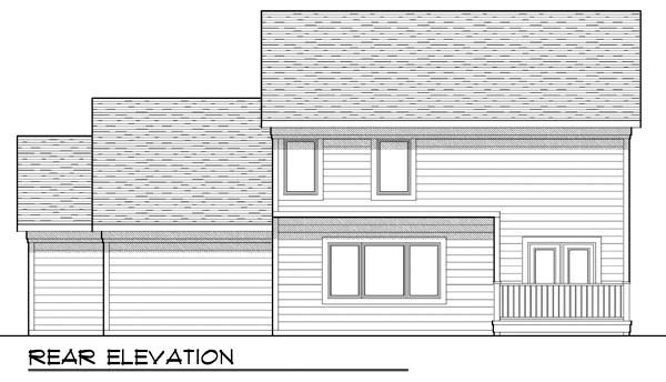 Country , Craftsman , Farmhouse , Traditional House Plan 72907 with 3 Beds, 3 Baths, 3 Car Garage Rear Elevation