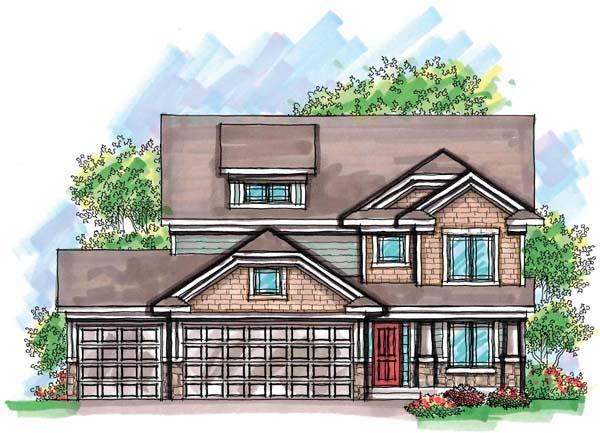Craftsman Farmhouse Traditional House Plan 72909 Elevation