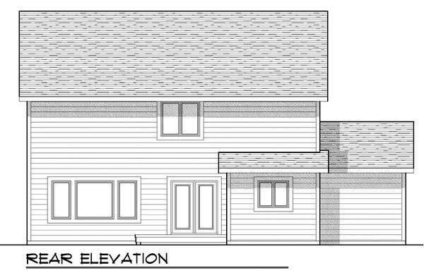 Craftsman Farmhouse Traditional House Plan 72909 Rear Elevation