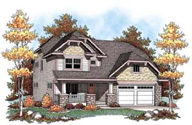 House Plan 72910 | Country Craftsman Farmhouse Style Plan with 2587 Sq Ft, 4 Bedrooms, 5 Bathrooms, 2 Car Garage Elevation