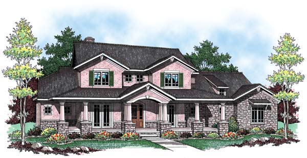 European Farmhouse Traditional House Plan 72912 Elevation