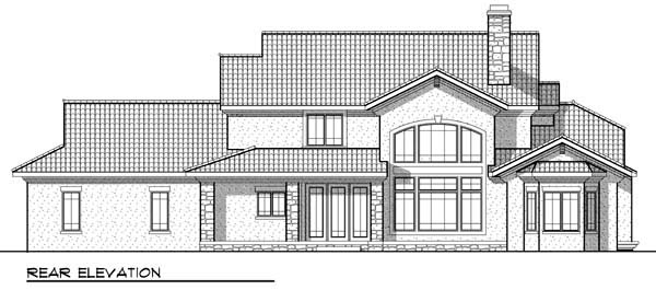 European Farmhouse Traditional House Plan 72912 Rear Elevation