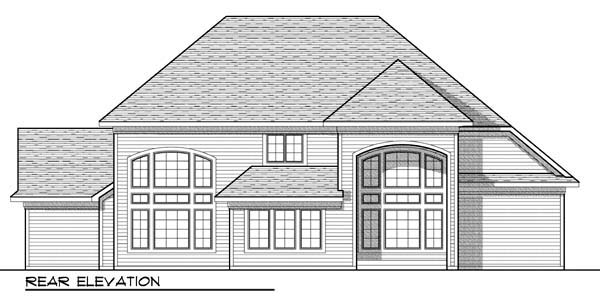 Country European House Plan 72913 Rear Elevation