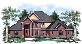 Traditional House Plan 72914 with 4 Beds, 4 Baths, 4 Car Garage Elevation