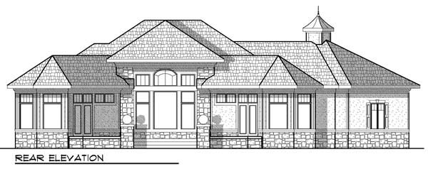 Ranch House Plan 72915 Rear Elevation