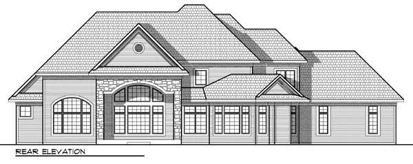Country European House Plan 72916 Rear Elevation