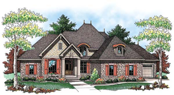 Country European House Plan 72917 Elevation