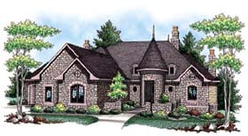 Country , European , Ranch House Plan 72918 with 3 Beds, 4 Baths, 3 Car Garage Elevation