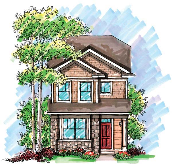 Cottage Craftsman House Plan 72921 Elevation