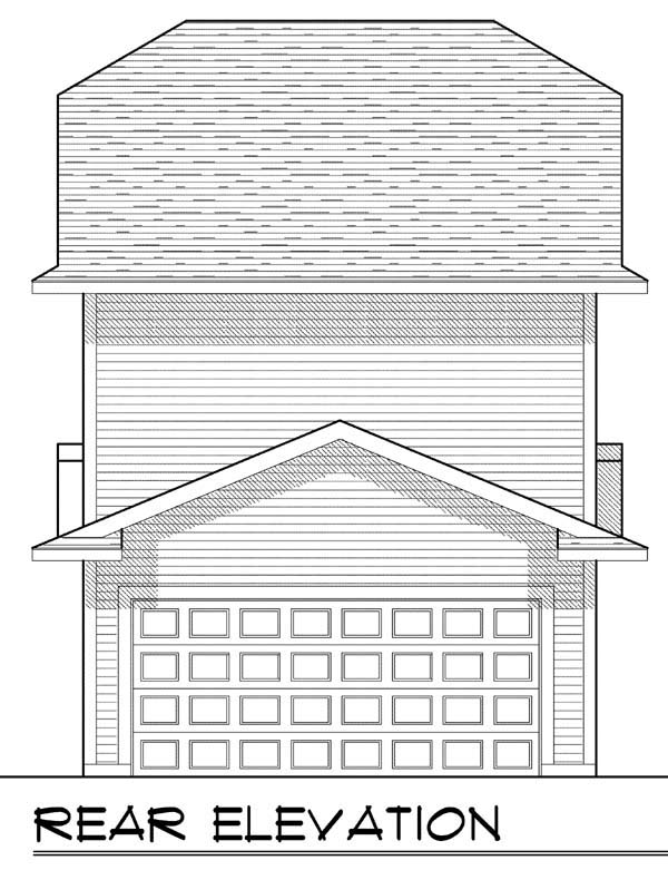 Cottage Craftsman House Plan 72921 Rear Elevation