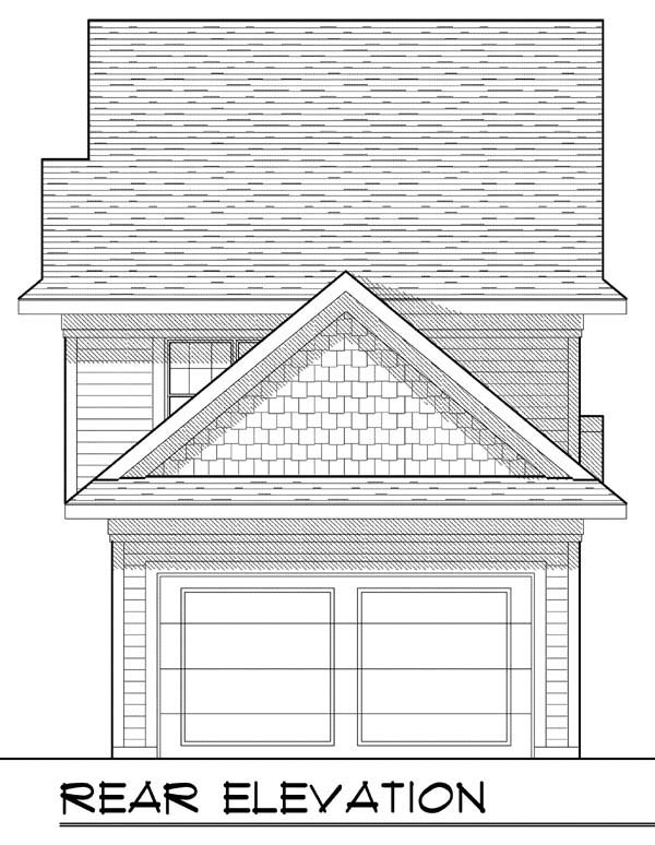 Cottage Craftsman House Plan 72922 Rear Elevation