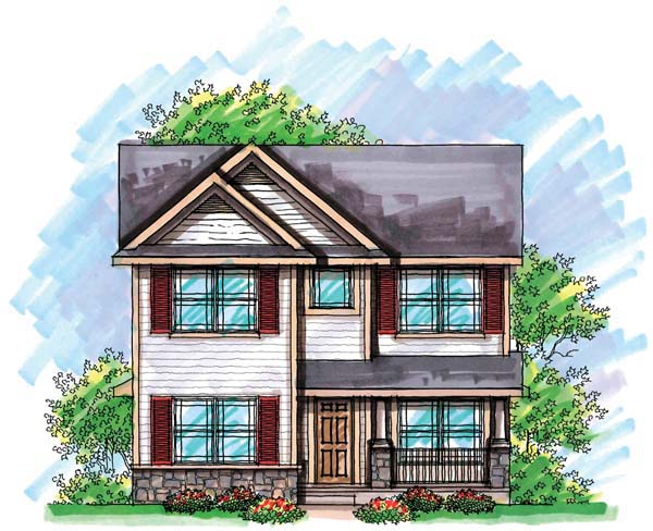 House Plan 72923 | Cottage Country Style Plan with 1570 Sq Ft, 3 Bedrooms, 3 Bathrooms, 2 Car Garage Elevation