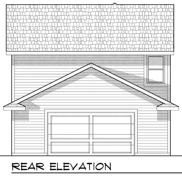 House Plan 72923 | Cottage Country Style Plan with 1570 Sq Ft, 3 Bedrooms, 3 Bathrooms, 2 Car Garage Rear Elevation