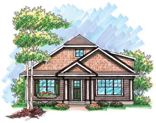 Cottage Craftsman Ranch House Plan 72924 Elevation