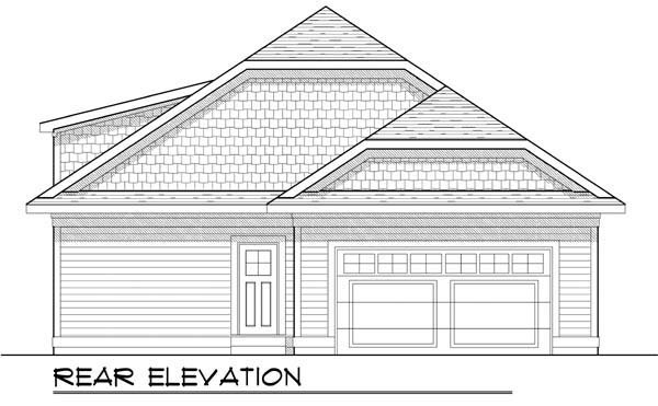 Cottage Craftsman Ranch House Plan 72924 Rear Elevation