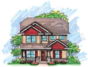 Country Craftsman House Plan 72925 Elevation