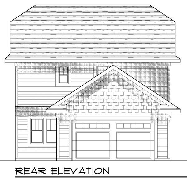 Country Craftsman House Plan 72925 Rear Elevation