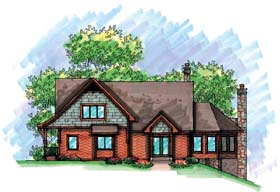 Cabin Traditional House Plan 72927 Elevation