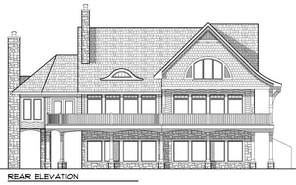 Cabin Traditional House Plan 72927 Rear Elevation