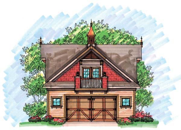 2 Car Garage Plan 72928 Elevation