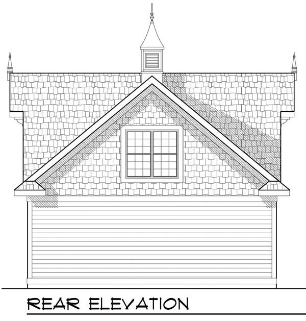 Garage Plan 72928 Rear Elevation