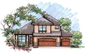 House Plan 72930 | Mediterranean Style Plan with 1413 Sq Ft, 3 Bedrooms, 3 Bathrooms, 3 Car Garage Elevation