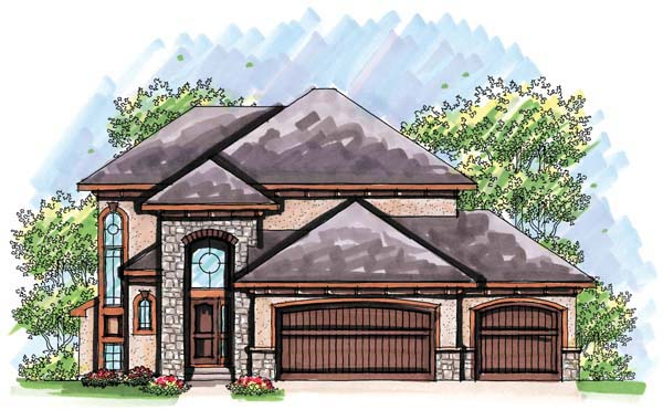House Plan 72931 | Mediterranean Style Plan with 1710 Sq Ft, 3 Bedrooms, 3 Bathrooms, 3 Car Garage Elevation