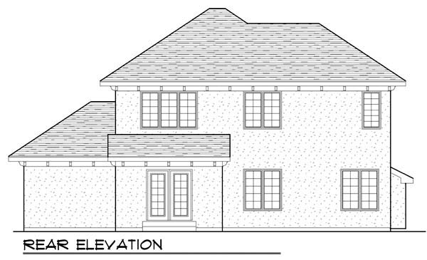 House Plan 72931 | Mediterranean Style Plan with 1710 Sq Ft, 3 Bedrooms, 3 Bathrooms, 3 Car Garage Rear Elevation