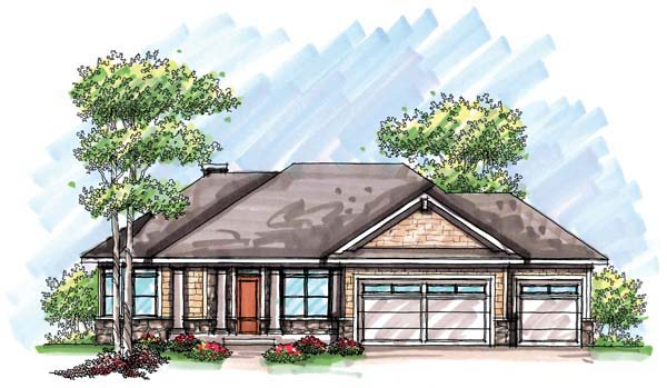 Craftsman Ranch House Plan 72932 Elevation