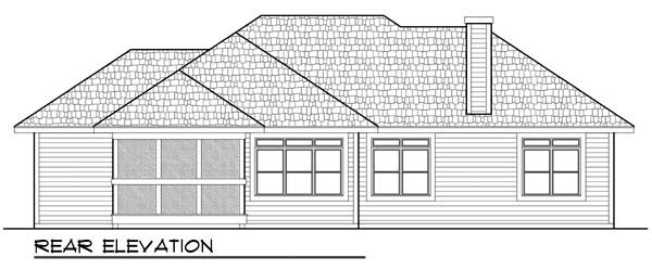 Craftsman Ranch House Plan 72932 Rear Elevation