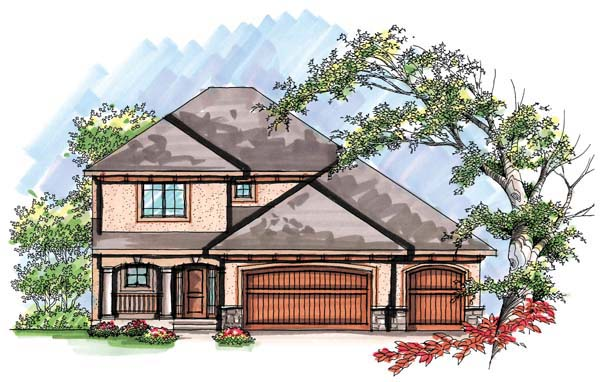 Mediterranean House Plan 72933 with 4 Beds, 3 Baths, 3 Car Garage Elevation
