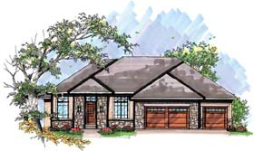 Coastal , Mediterranean , Ranch House Plan 72935 with 2 Beds, 2 Baths, 3 Car Garage Elevation
