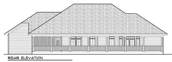 Country European Ranch House Plan 72936 Rear Elevation