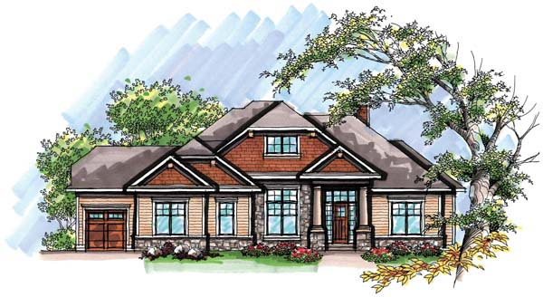 Country Craftsman Ranch House Plan 72940 Elevation