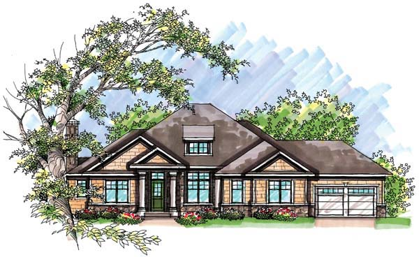 Country Craftsman Ranch House Plan 72942 Elevation