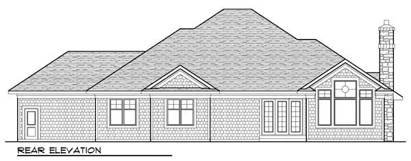 Country Craftsman Ranch House Plan 72942 Rear Elevation