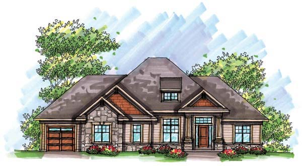 Country Craftsman European Ranch House Plan 72943 Elevation