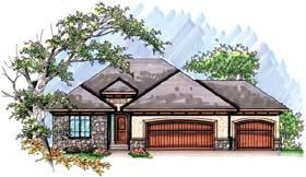 Coastal Mediterranean Ranch House Plan 72945 Elevation
