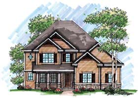 House Plan 72947 | Country, Farmhouse, Traditional Style House Plan with 2583 Sq Ft, 4 Bed, 4 Bath, 3 Car Garage Elevation