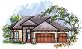 Coastal Mediterranean Ranch House Plan 72948 Elevation