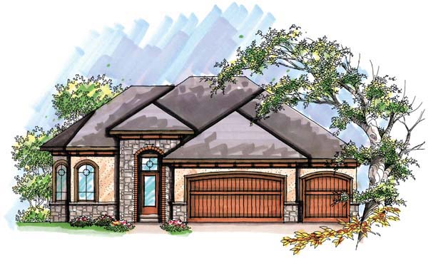 Coastal , Mediterranean , Ranch House Plan 72948 with 3 Beds, 2 Baths, 3 Car Garage Elevation