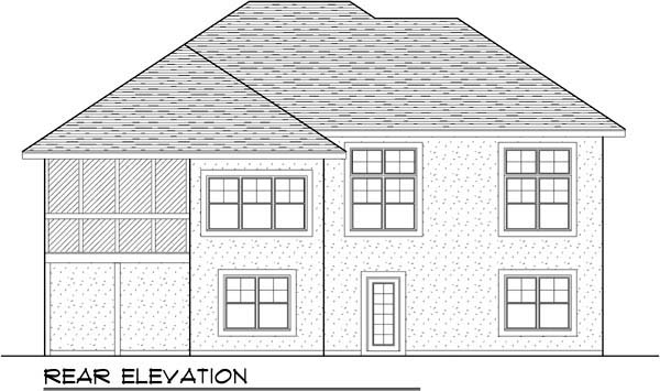 Coastal Mediterranean Ranch House Plan 72949 Rear Elevation
