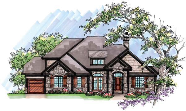 Country , European House Plan 72950 with 4 Beds, 3 Baths, 3 Car Garage Elevation