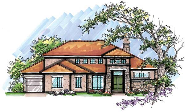 Coastal Mediterranean House Plan 72951 Elevation