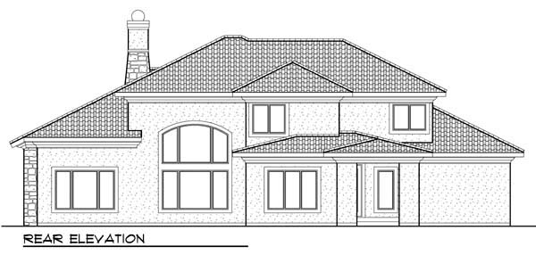 Coastal Mediterranean House Plan 72951 Rear Elevation