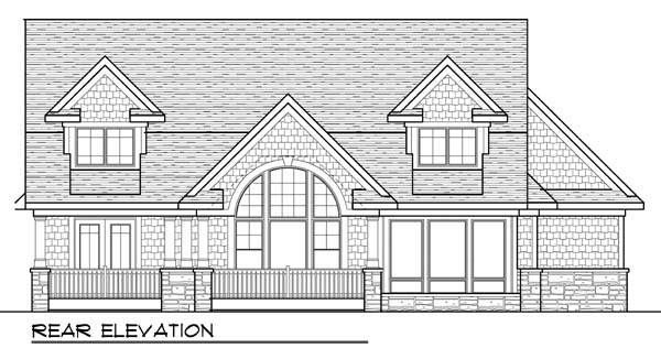 Country Craftsman Farmhouse House Plan 72952 Rear Elevation