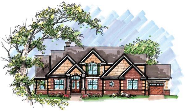 Craftsman European House Plan 72953 Elevation