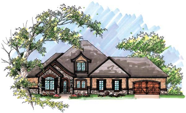 Country European House Plan 72954 Elevation